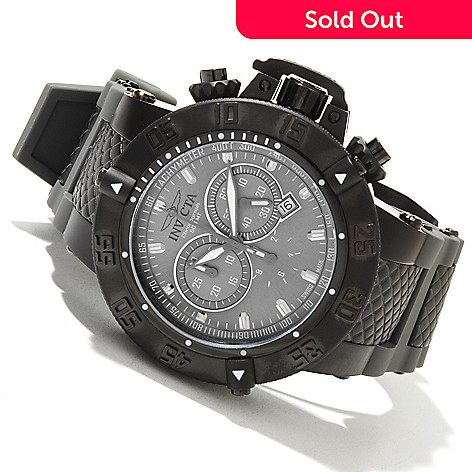618-820 - Invicta Men's Subaqua Noma III Swiss Quartz Chronograph Stainless Steel Case Silicone Strap Watch