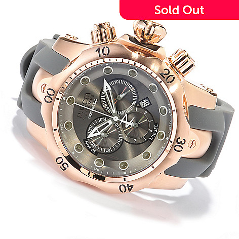 618-828 - Invicta Reserve 52mm Venom Swiss Made Quartz Chronograph Stainless Steel Strap Watch