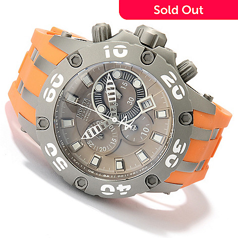 618-835 - Invicta Reserve 51mm Specialty Subaqua Scuba Swiss Quartz Chronograph Polyurethane Strap Watch