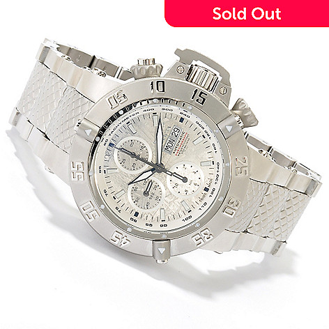 618-837 - Invicta Men's Subaqua Noma III Swiss Valjoux 7750 Meteorite Dial Stainless Steel Bracelet Watch