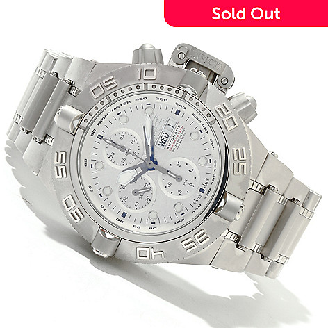 618-839 - Invicta Men's Subaqua Noma IV Swiss Valjoux 7750 Meteorite Dial Stainless Steel Bracelet Watch