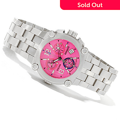 618-840 - Renato Women's Vulcan Swiss Quartz Chronograph Stainless Steel Bracelet Watch
