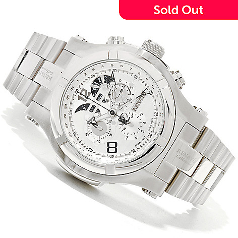 618-842 - Renato Men's T-Rex Swiss Made Quartz Chronograph Stainless Steel Bracelet Watch