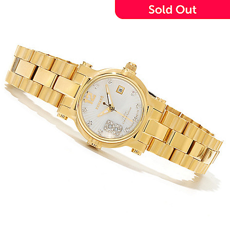 618-844 - Renato Women's Beauty Petite Limited Edition Swiss Quartz Diamond Accent Bracelet Watch