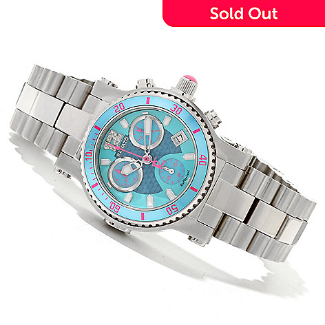 618-845 - Renato Women's Beauty Diver Limited Edition Swiss Chronograph Bracelet Watch