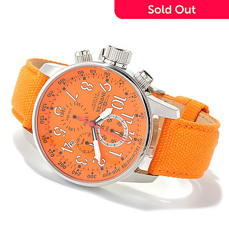 618-857 - Invicta Men's I Force Quartz Chronograph Stainless Steel Leather & Canvas Strap Watch w/ 3-Slot Dive