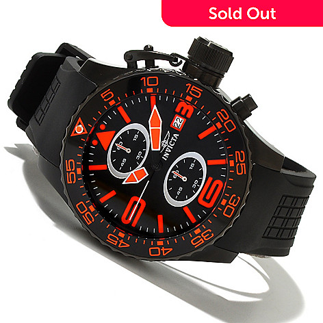 618-860 - Invicta Men's Corduba Quartz Chronograph Polyurethane Strap Watch w/ 3-Slot Dive Case