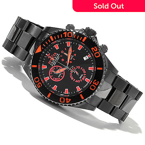 618-861 - Invicta Reserve Men's Pro Diver Swiss Quartz Chronograph Stainless Steel Bracelet Watch