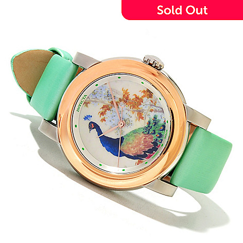 618-865 - Invicta Women's Specialty Chinese Dynasty Vase Swiss Quartz Leather Strap Watch