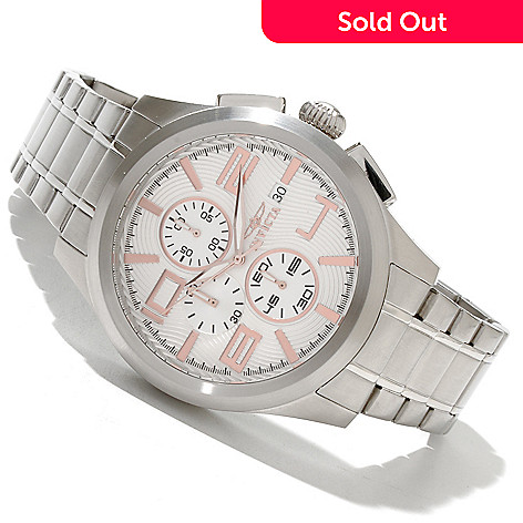 618-867 - Invicta Men's Specialty Elegant Quartz Stainless Steel Bracelet Watch w/ 3-Slot Dive Case