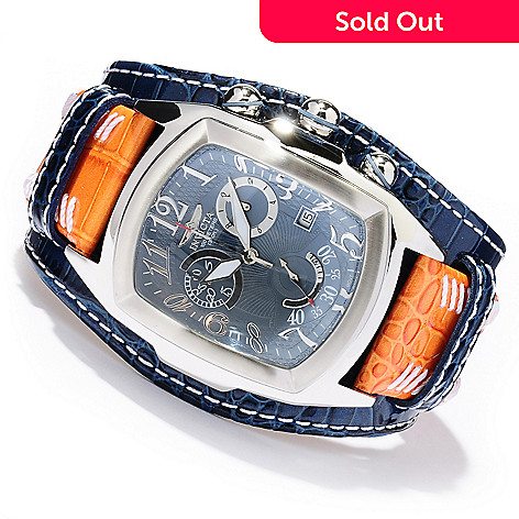 618-874 - Invicta Men's Dragon Lupah Swiss Quartz Chronograph Stainless Steel Leather Strap Watch