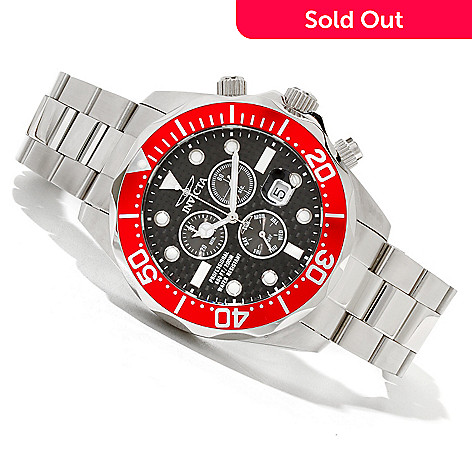 618-879 - Invicta 47mm Grand Diver Quartz Chronograph Stainless Steel Bracelet Watch w/ 8-Slot Dive Case
