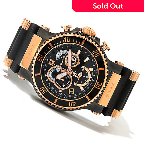 618-885 - Renato 49.5mm T-Rex Diver Limited Edition Swiss Quartz Chronograph Strap Watch