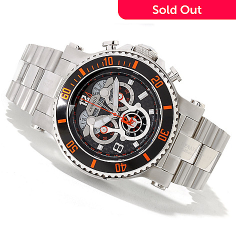 618-889 - Renato 50mm T-Rex Diver Limited Edition Swiss Quartz Chronograph Stainless Steel Bracelet Watch