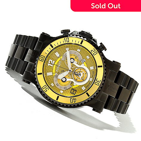 618-890 - Renato 50mm T-Rex Diver Limited Edition Swiss Quartz Chronograph Bracelet Watch