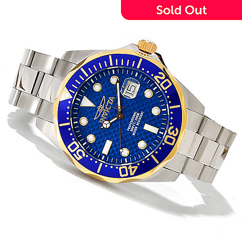 618-897 - Invicta Men's Grand Diver Quartz Stainless Steel Bracelet Watch w/ Eight-Slot Dive Case