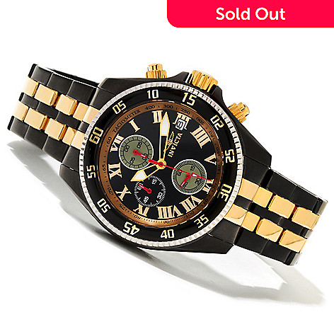 618-998 - Invicta Men's Elegance Sport Quartz Chronograph Bracelet Watch w/ 3-Slot Dive Case