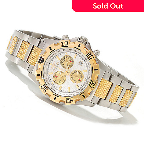 619-005 - Invicta 42mm Racer Quartz Chronograph Stainless Steel Bracelet Watch