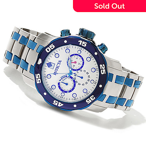 619-006 - Invicta 48mm Pro Diver Scuba Quartz Chronograph Stainless Steel Bracelet Watch