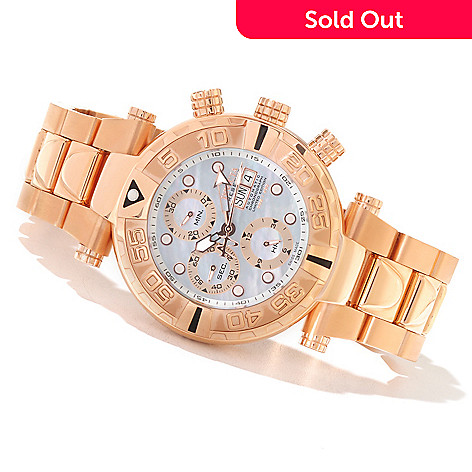 619-007 - Invicta Reserve Subaqua Noma I Limited Edition Valjoux 7750 Mother-of-Pearl Dial Bracelet Watch