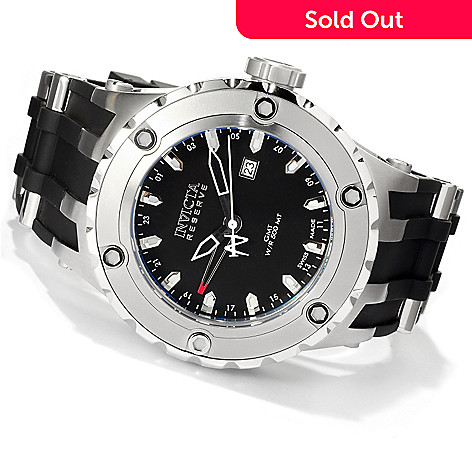 619-009 - Invicta Reserve Men's Specialty Subaqua Swiss Made Quartz Strap Watch w/ 8-Slot Dive Case