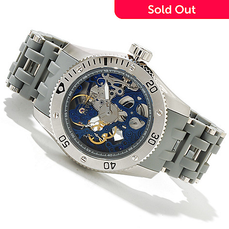 619-023 - Invicta 50mm Sea Spider Mechanical Bracelet Watch w/ Three-Slot Dive Case