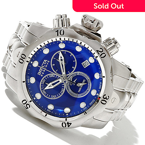619-114 - Invicta Reserve Men's Venom Swiss Made Quartz Chronograph Stainless Steel Bracelet Watch