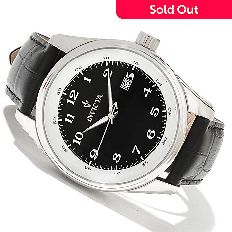 619-116 - Invicta Men's Vintage Collection Quartz Stainless Steel Leather Strap Watch