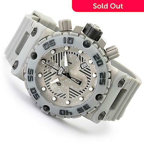 619-122 - Invicta Men's Subaqua Nitro Swiss Made Quartz Polyurethane Strap Watch w/ 8-Slot Dive Case