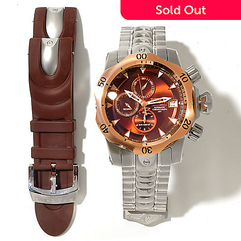 619-126 - Invicta Reserve Men's Venom Limited Edition Automatic Interchangeable Bracelet Watch w/ Dive Case