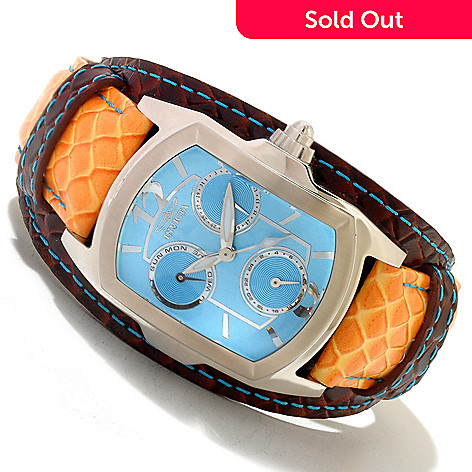 619-130 - Invicta Women's Lupah Couture Quartz Stainless Steel Case Legarto Leather Strap Watch