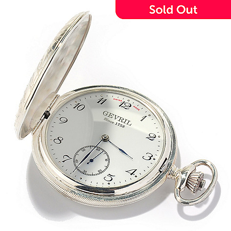 619-139 - Gevril ''1758 Collection'' Swiss Made Mechanical Stainless Steel Pocket Watch