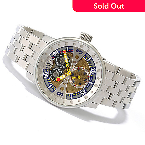 619-141 - GV2 by Gevril Men's Powerball Limited Edition Swiss Made Quartz Stainless Steel Bracelet Watch