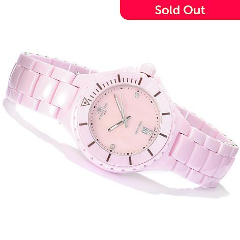 619-158 - Oniss Women's Ceramica Ligaro Swiss Quartz Diamond Accented Bracelet Watch