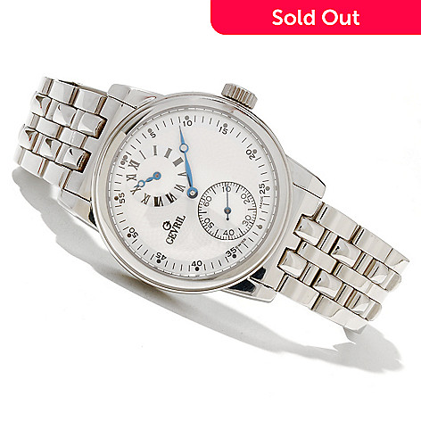 619-207 - Gevril Men's Gramercy Limited Edition Swiss Made Automatic Stainless Steel Bracelet Watch