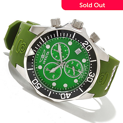 619-211 - Invicta Men's Grand Diver Swiss Quartz Chronograph Polyurethane Strap Watch