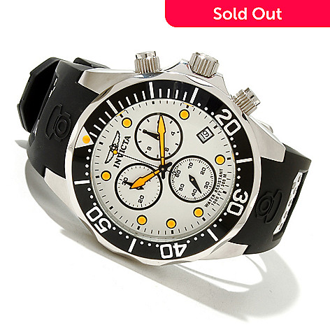619-212 - Invicta Men's Pro Diver Grand Diver Swiss Quartz Chronograph Polyurethane Strap Watch