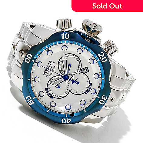 619-216 - Invicta Reserve Men's Venom Swiss Made Quartz Chronograph Stainless Steel Bracelet Watch