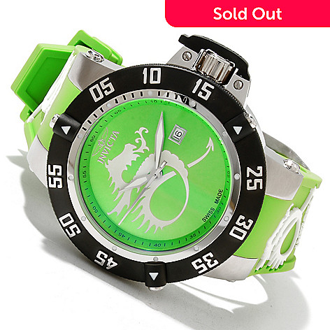 619-219 - Invicta Men's Subaqua Noma III Dragon Swiss Made Quartz Silicone Strap Watch