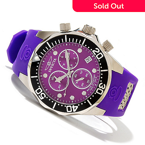 619-223 - Invicta Men's Pro Diver Grand Diver Swiss Quartz Chronograph Polyurethane Strap Watch