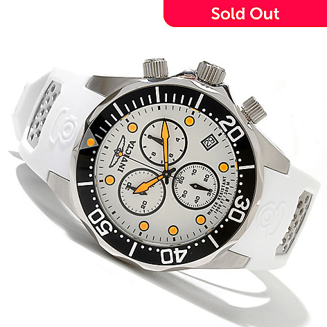 619-225 - Invicta Men's Pro Diver Grand Diver Swiss Quartz Chronograph Polyurethane Strap Watch