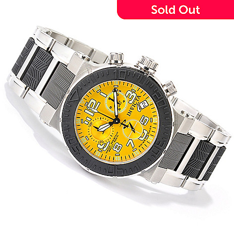 619-234 - Invicta Reserve Men's Ocean Reef Swiss Made Quartz Chronograph Bracelet Watch w/ 3-Slot Dive Case