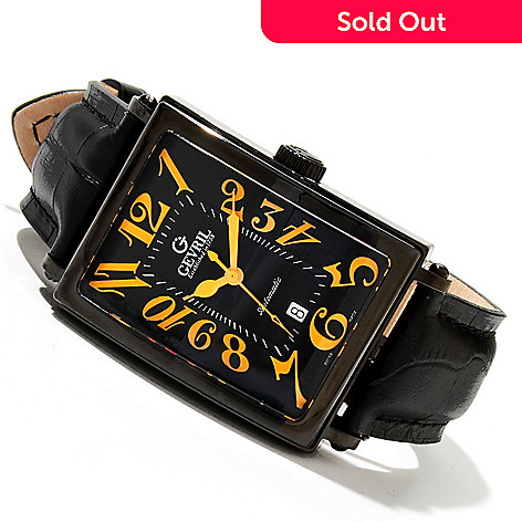 619-368 - Gevril Rectangular Avenue of Americas Limited Edition Swiss Made Automatic Strap Watch