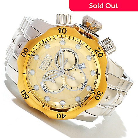 619-377 - Invicta Reserve Men's Venom Swiss Made Quartz Chronograph Stainless Steel Bracelet Watch