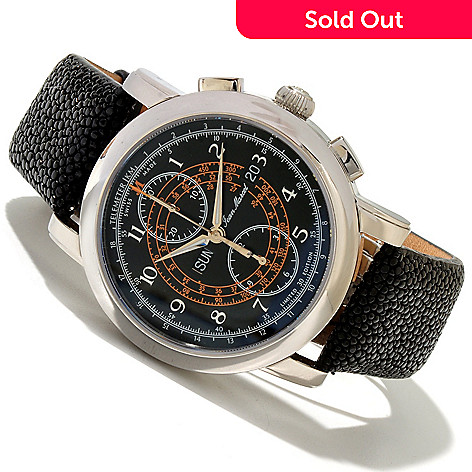619-378 - Jean Marcel Men's Clarus Limited Edition Swiss Made Automatic Chronograph Strap Watch