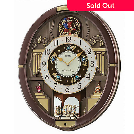 619-383 - Seiko Melodies in Motion ''Dancing Trumpeter'' Wall Clock