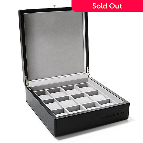 619-433 - Android 12-Slot Leatherette Collector's Watch Box