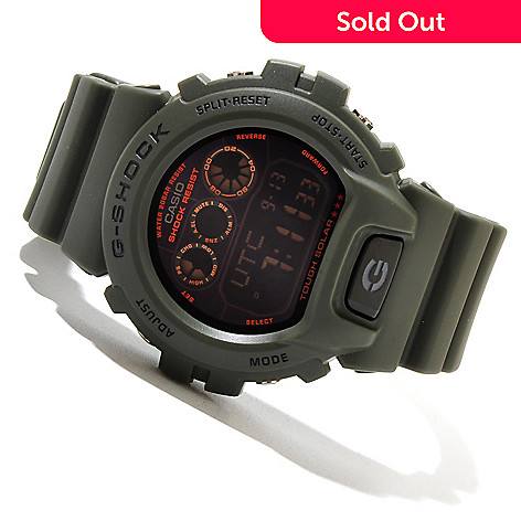619-435 - Casio Men's G-Shock Military 6900 Series Solar Powered Rubber Strap Watch