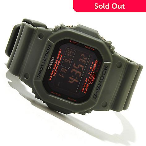619-436 - Casio Men's G-Shock Military 5600 Series Solar Powered Rubber Strap Watch