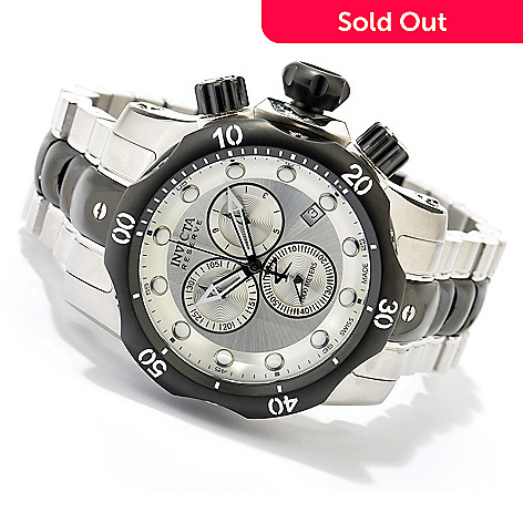 619-437 - Invicta Reserve Men's Venom Swiss Quartz Chronograph Stainless Steel Bracelet Watch
